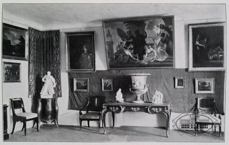 Wnętrze muzeum 1921r.