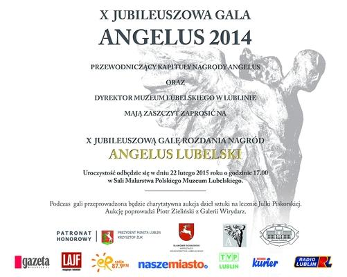 Informacja o X jubileuszowej gali Angelus 2014