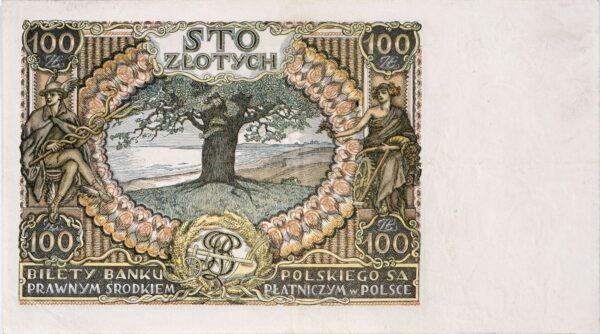 kliknięcie spowoduje powiększenie, banknot 100 zł