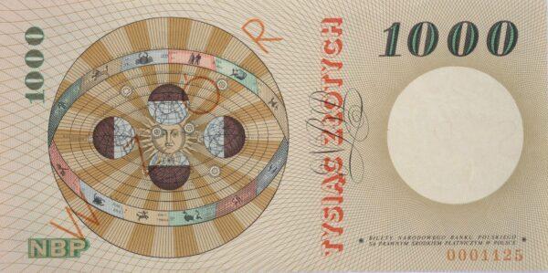 kliknięcie spowoduje powiększenie, banknot 1000 zł