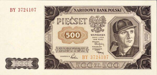 kliknięcie spowoduje powiększenie, banknot 500 zł