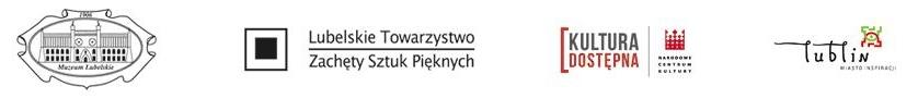 Logotypy: Muzeum Lubelskie, Lubelskie Towarzystwo Zachęty Sztuk Pięknych, Kultura Dostępna, Lublin miasto inspiracji