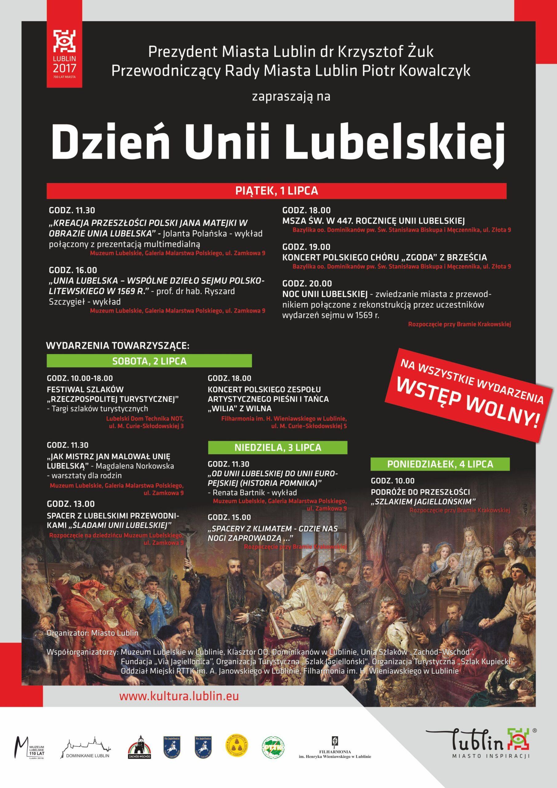 Program Dnia Unii Lubelskiej 2016