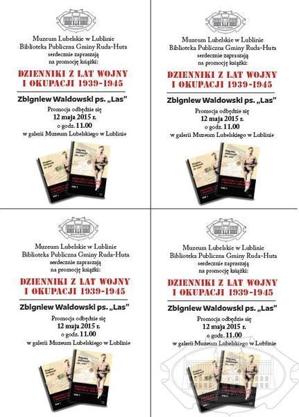 Informacja o promocji książki 12 maja 2015