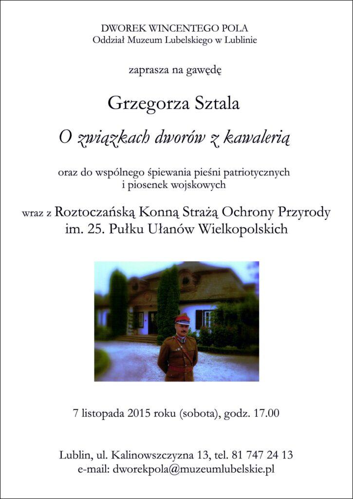 Zaproszenie na gawędę 7.11.2015