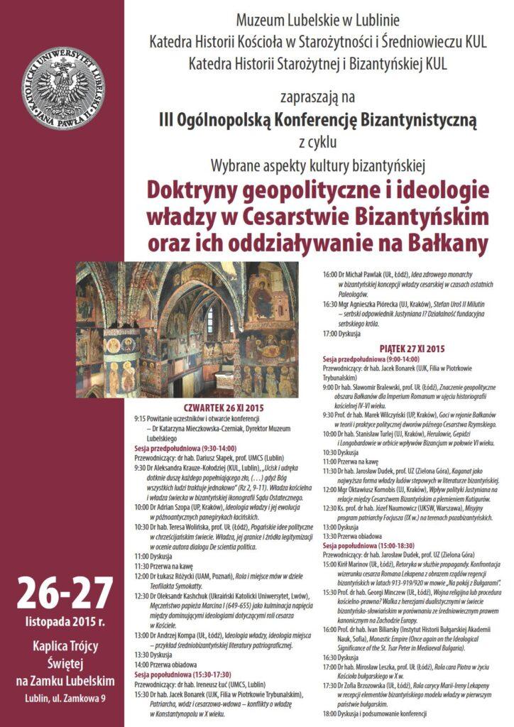 Program konferencji 26-27.11.2015