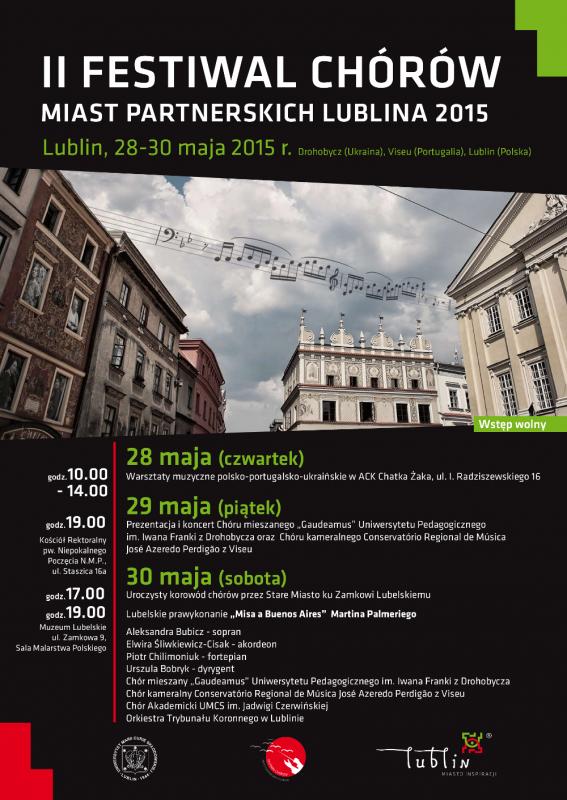 Program II Festiwalu Chórów 28-30 maja 2015
