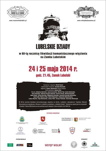 Plakat spektaklu 24 i 25 maja 2014