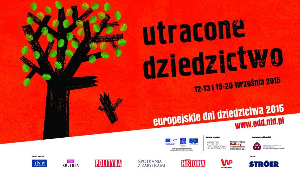 Plakat europejskie dni dziedzictwa 2015