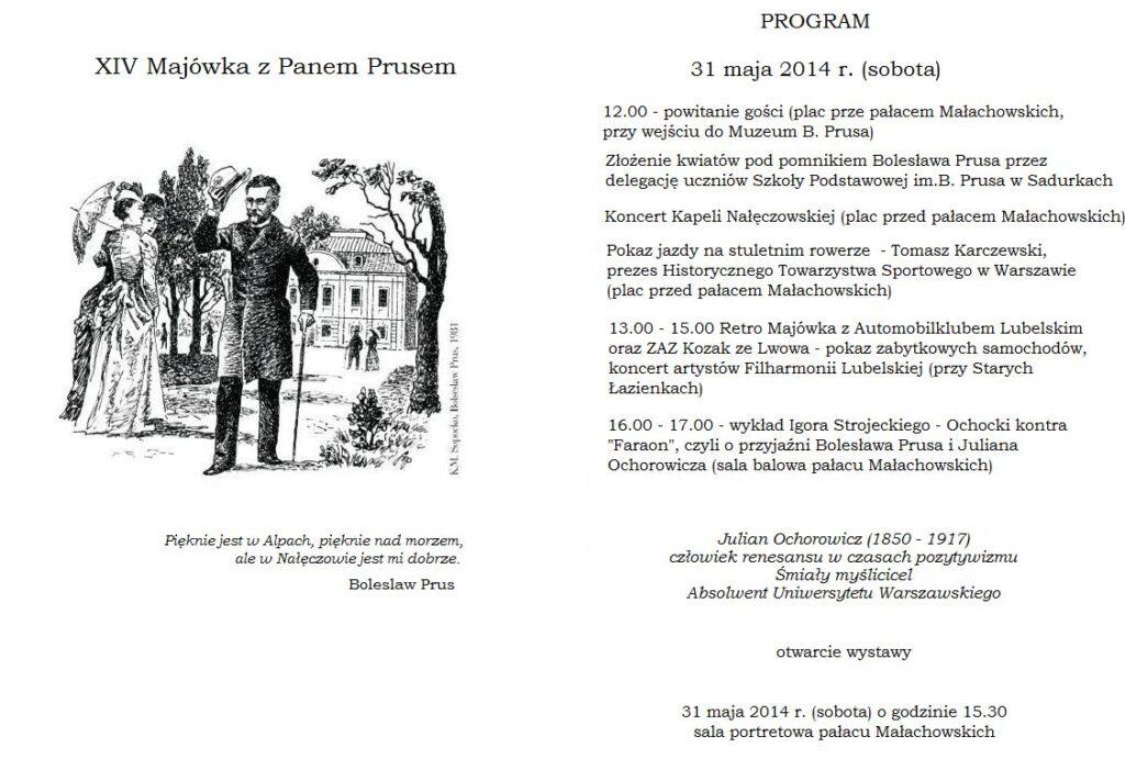 Program XIV Majówki z Panem Prusem