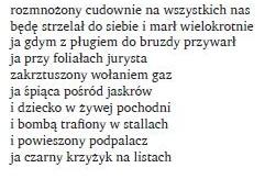 zapis wiersza