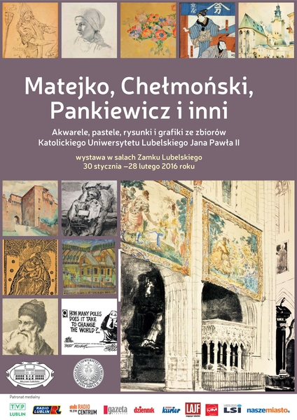 Plakat wystawy Matejko, Chełmoński, Pankiewicz i inni 30.01-28.02.2016