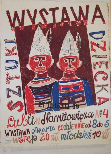 Plakat wystawy Sztuki Dziecka