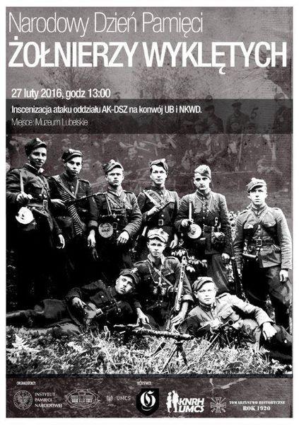 Plakat Narodowy Dzień Pamięci Żołnierzy Wyklętych 27 lutego 2016