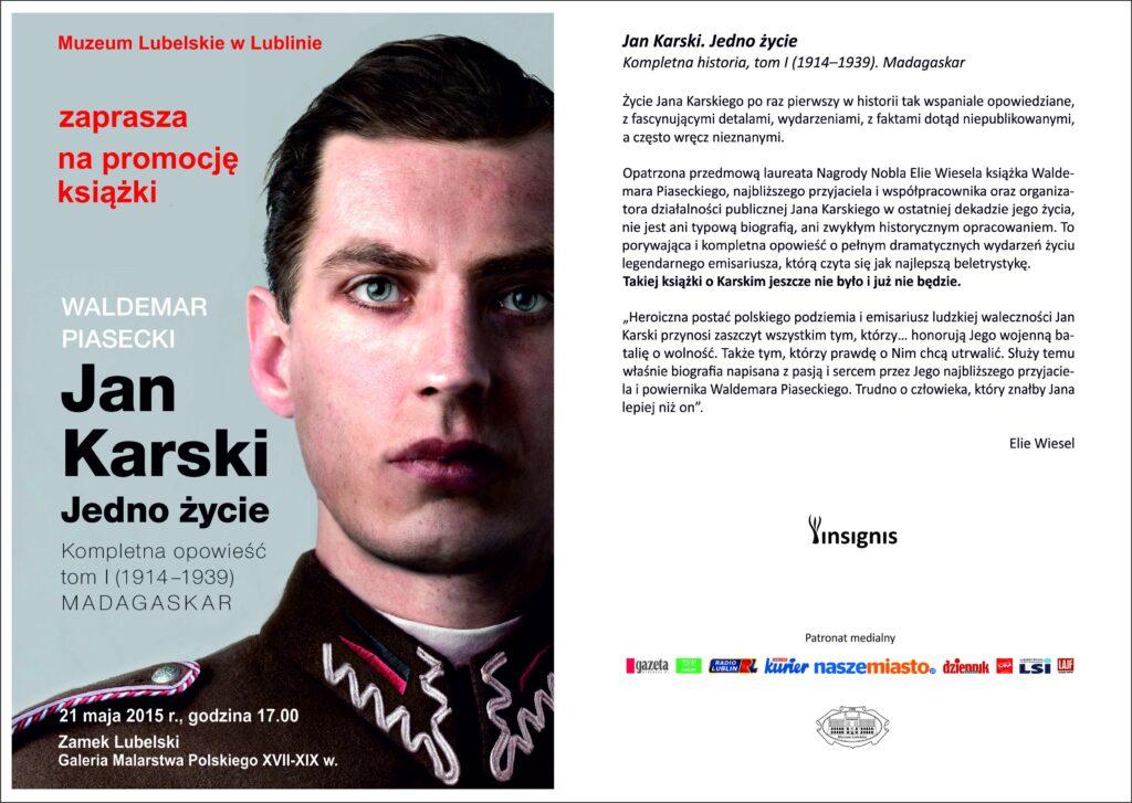 Zaproszenie na promocję książki Waldemara Piaseckiego