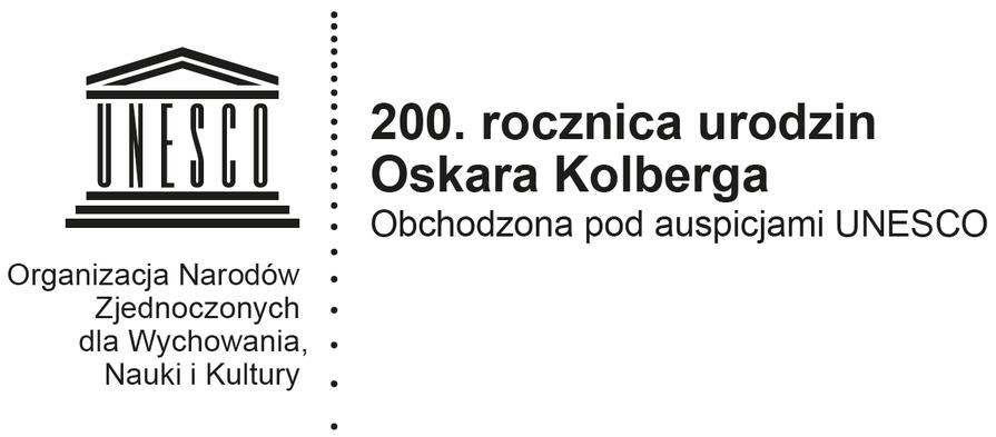 Logotyp UNESCO 200. rocznica urodzin Oskara Kolberga