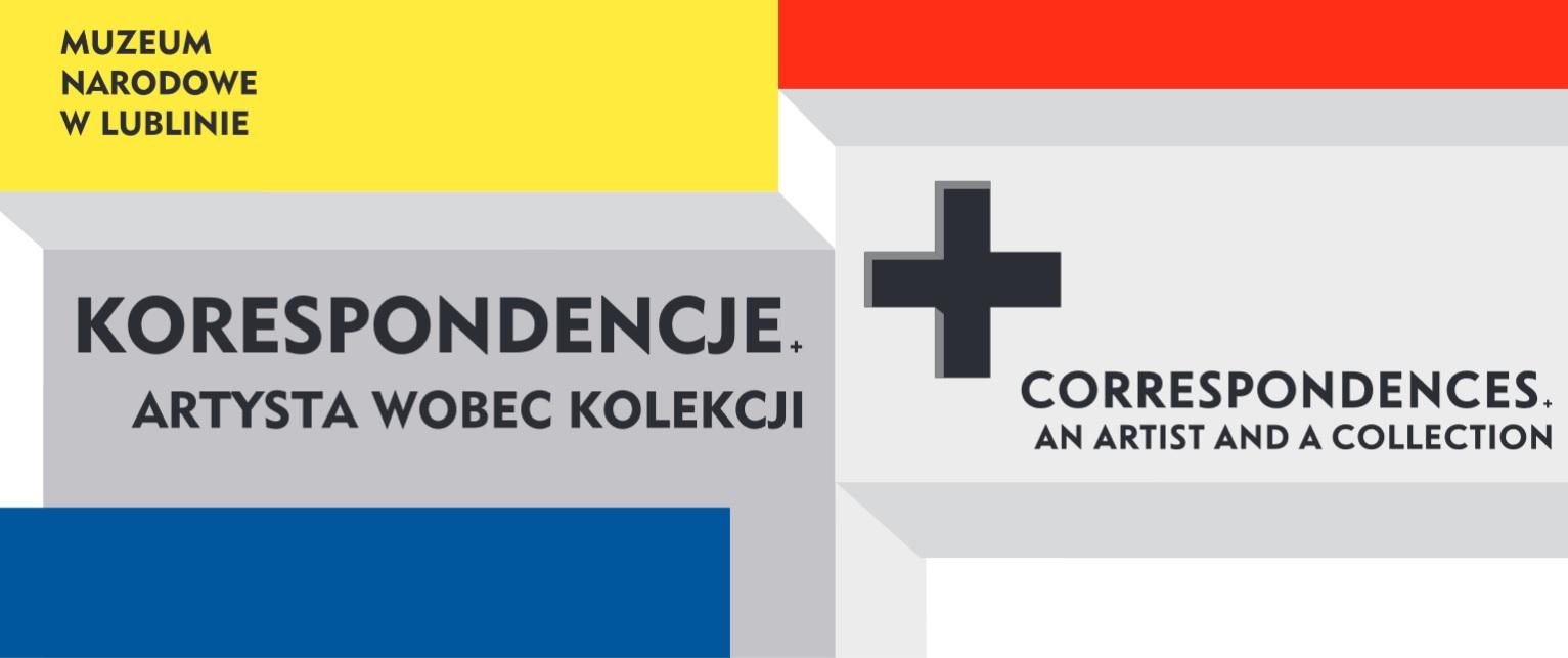 Plakat promujący wystawę Korespondencje. Artysta wobec kolekcji