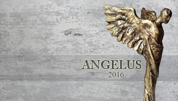 Zdjęcie statuetki i napis Angelus 2016