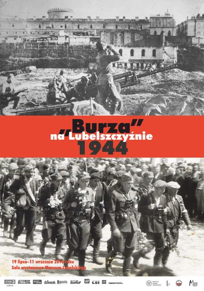 Plakat wystawy Burza na Lubelszczyźnie 1944