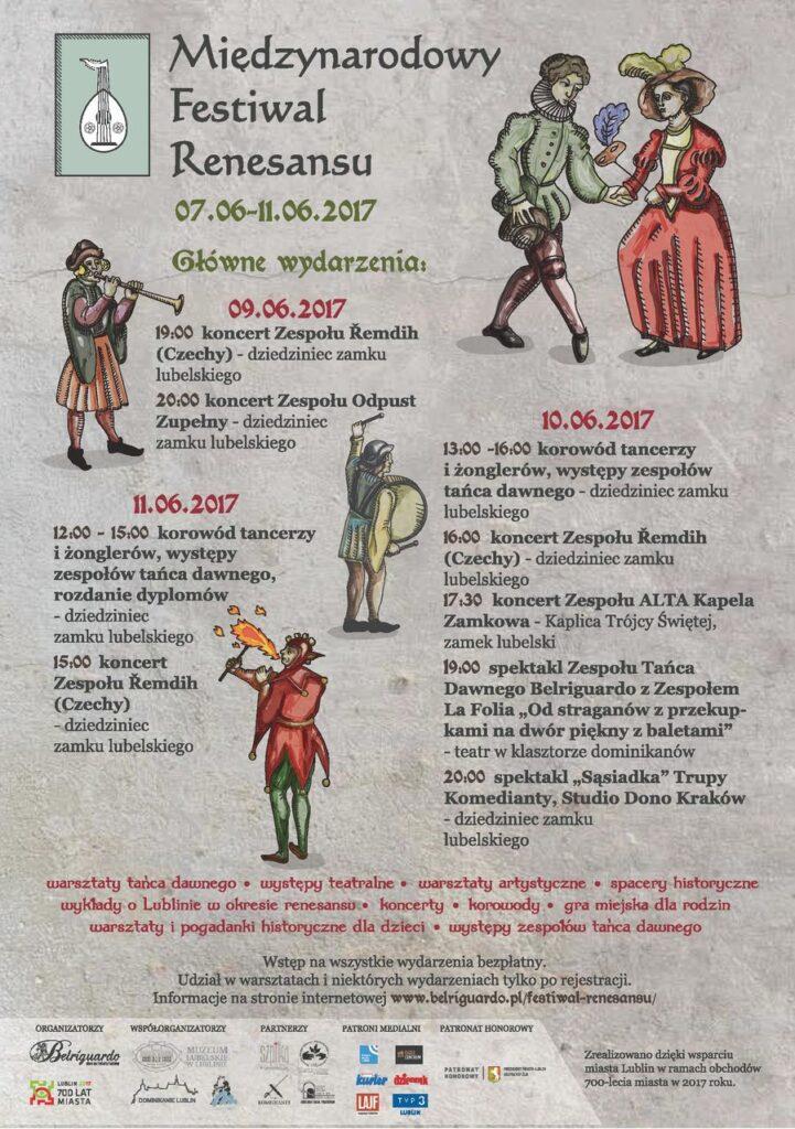 Program Międzynarodowy Festiwal Renesansu 7-11.06.2017
