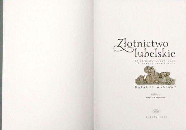 Pierwsza strona albumu Złotnictwo Lubelskie
