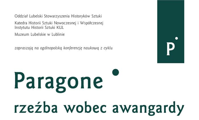 Zaproszenie na konferencję Paragone rzeźba wobec awangardy