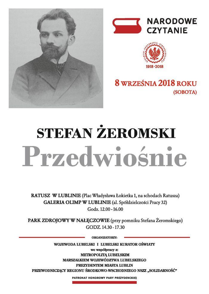 Plakat Narodowe Czytanie - Stefan Żeromski, Przedwiośnie