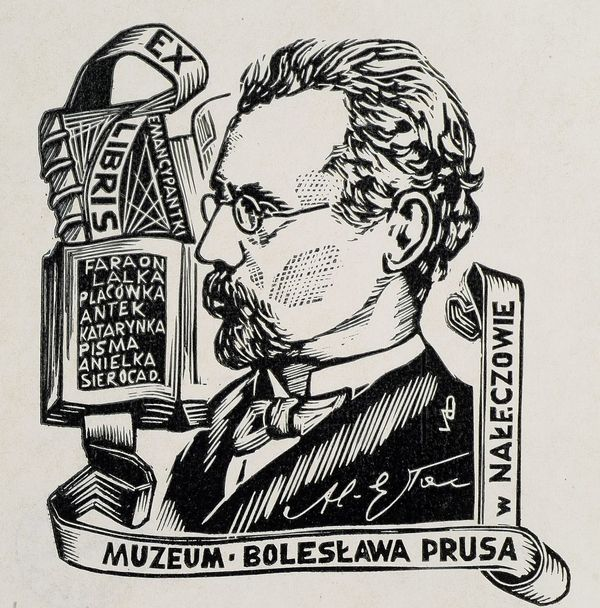 Rysunek popiersia Bolesława Prusa