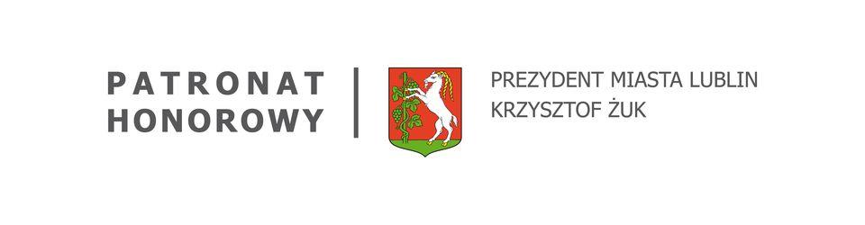Logotyp Patronat honorowy Prezydent miasta Lublin Krzysztof Żuk