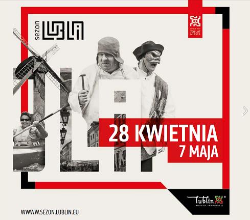 Grafika Sezon Lublin 28 kwietnia - 7 maja