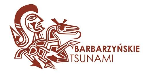 Logotyp wystawy Barbarzyńskie tsunami