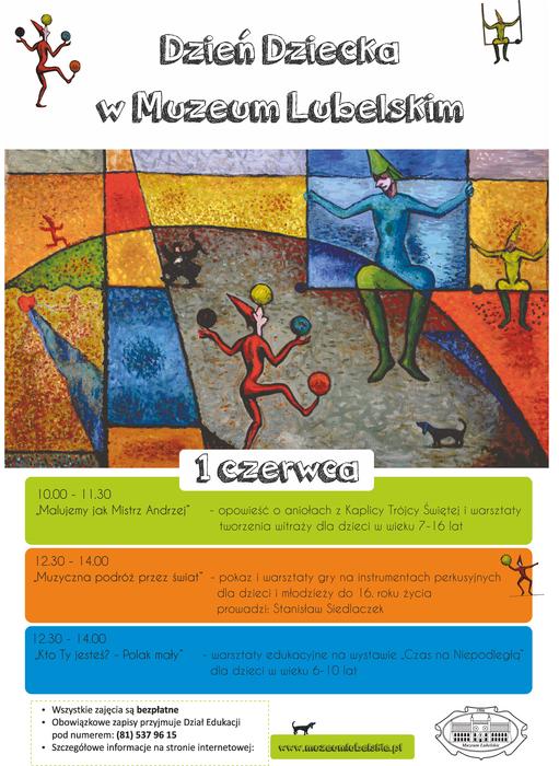 Plakat Dnia Dziecka w Muzeum Lubelskim 2018