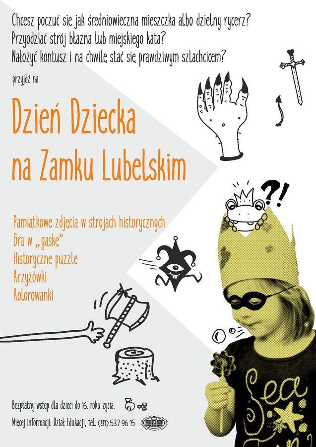 Plakat Dnia Dziecka na Zamku Lubelskim 2017
