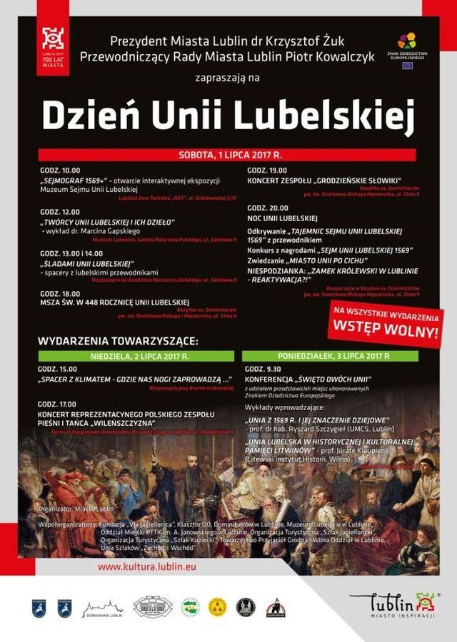 Program Dnia Unii Lubelskiej 1.07.2017