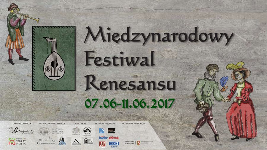 Plakat Międzynarodowy Festiwal Renesansu 7-11.06.2017