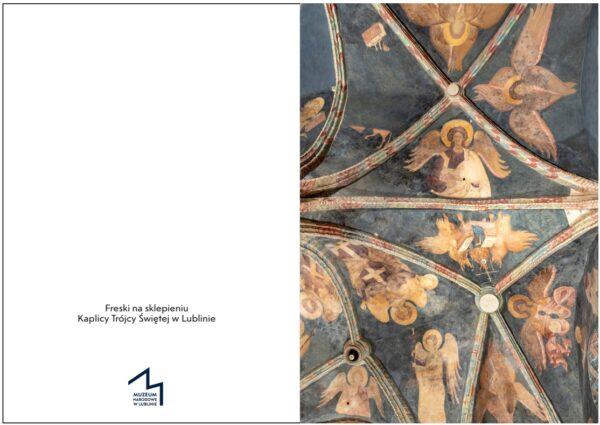 Kartka świąteczna przedstawiająca Freski na sklepieniu Kaplicy Trójcy świętej w Lublinie - przedstawienia aniołów