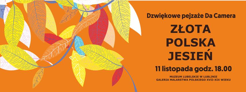 Plakat koncertu Złota Polska Jesień