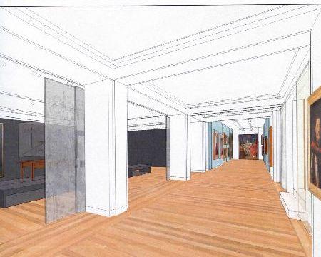 Projekt sali wystawowej