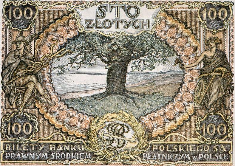 Ozdobny banknot stuzłotowy