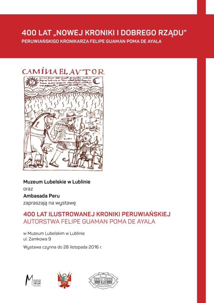 Zaproszenie na wystawę 400 lat ilustrowanej kroniki peruwiańskiej
