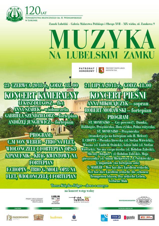 Plakat Muzyka na Lubelskim Zamku 2018